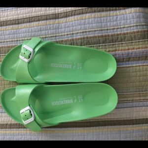 BIRKENSTOCK LIME GREEN SINGLE STRAP size 41